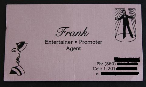 Frank's card