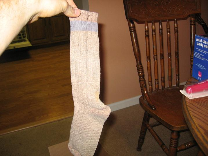Sock, previously lost