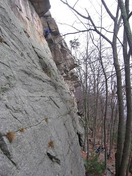 Little climber, big wall