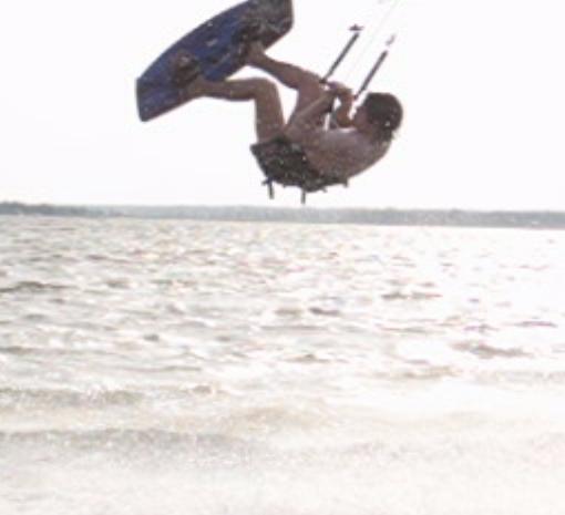 sweet kiteboarding backflip!