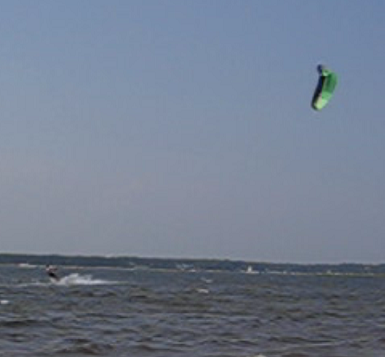Kite in action